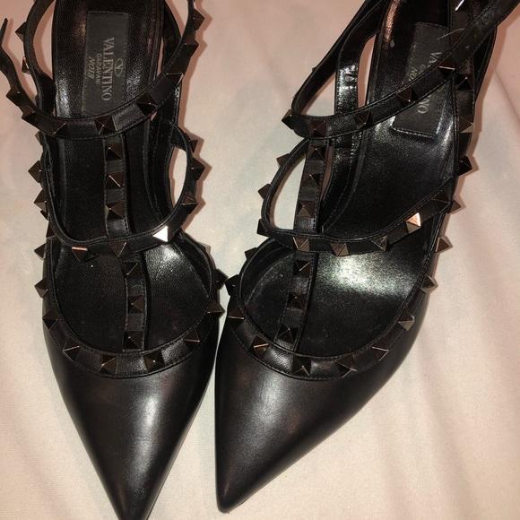 Black Studded Valentino Heels | Poshmark